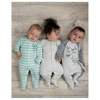The Essential One Baby Boys Owl And Fox Sleepsuits - 3 Pack