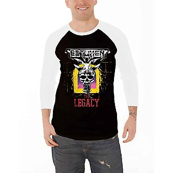 Testament T Shirt The Legacy new Official Mens Black Baseball 3/4 Sleeve