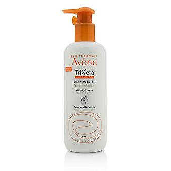 Avene Trixera Nutrition Nutri-fluid Face & Body Lotion - For Dry Sensitive Skin - 400ml/13.5oz