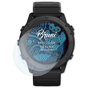 Bruni 2x Schutzfolie kompatibel mit Garmin tactix Delta Folie