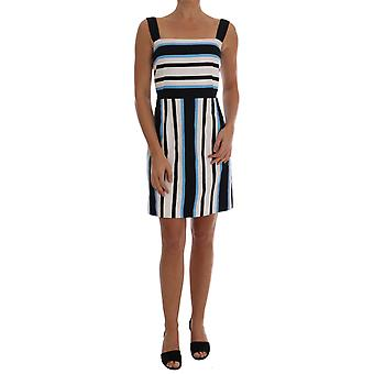 Rochie Dolce & Gabbana Blue White Striped Cotton A-Line