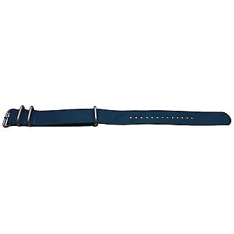 Cinghia orologio in stile zulu g10 N.a.t.o 4 anello blu con fibbia in acciaio 18mm,20mm,22mm,24mm