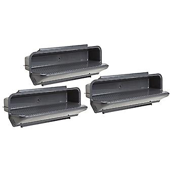 Pentair PacFab 82400800 Gray ABS Steps - Set of 3