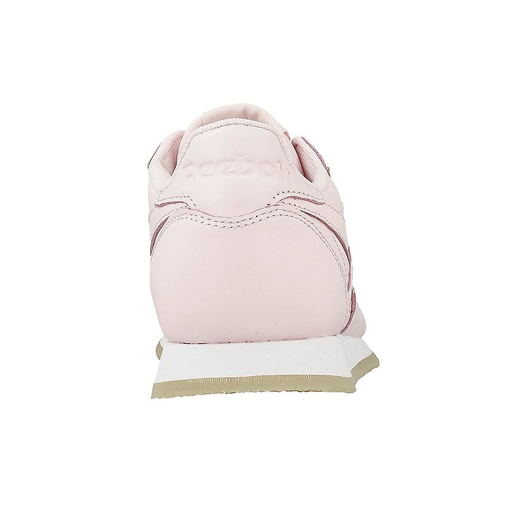 Reebok CL Lthr Crepe Neutr Porcelain Pinkwhite AR0985 universal all year women shoes
