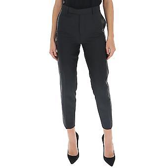 Rick Owens Rp20s1304waceb09 Women's Black Polyester Pants