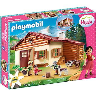 Playmobil 70253 Heidi at the Alpine Hut 107PC Playset