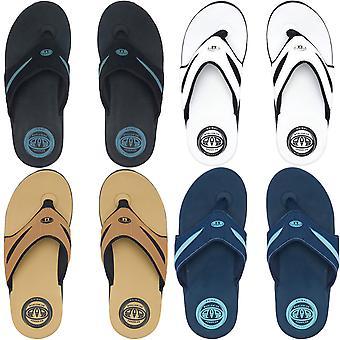 Tier Herren Fader Logo Sommer Slip On Beach Urlaub Flip Flops Sandalen
