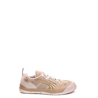 Neil Barrett Ezbc058077 Women's Gold Leather Sneakers