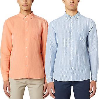 Wrangler Mens Long Sleeve Regular Fit Smart Casual Button Down Shirt Top