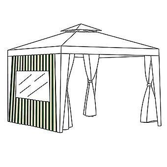 Vihreä Ecru Raita Outdoor Garden Gazebo Ikkunaverho Privacy Panel 1.9M x 2M