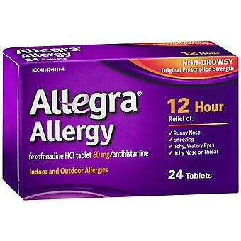 Allegra 12 hour allergy, non-drowsy, 60 mg, tablets, 24 ea
