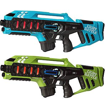 2 Anti-Cheat laser game rifles-blue and green