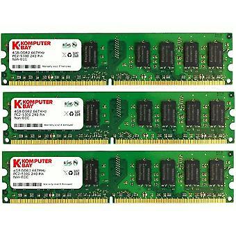 Komputerbay 12GB (3x4GB) DDR2 667MHz PC2-5300 PC2-5400 DDR2 667 (240 PIN) DIMM Desktop Memory