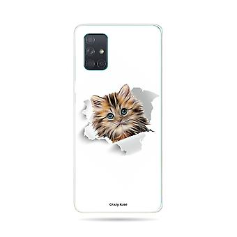 Hull For Samsung Galaxy A71 Flexible Cat Too Cute