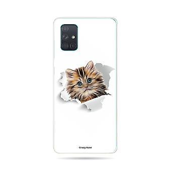 runko Samsung Galaxy A71 joustava kissa liian söpö