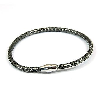 La Olivia Collection dames Sterling Silver Twist noir bracelet
