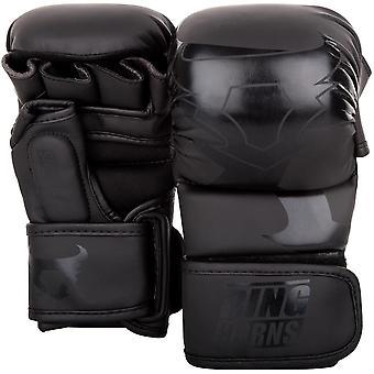 Ringhorns Charger MMA Sparring Gloves Black/Black