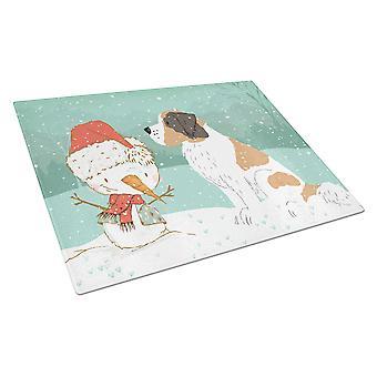 Saint Bernard Lumiukko joululasi leikkauslauta suuri