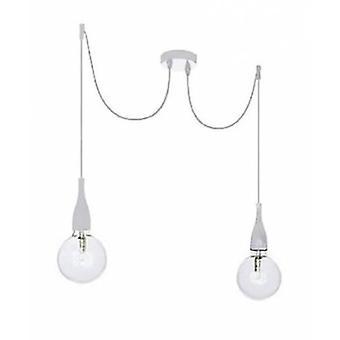 Ideale Lux - minimale dubbele witte hanger IDL112718
