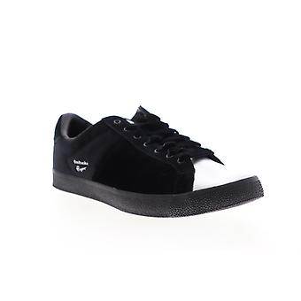 Onitsuka Tiger Lawnship  Mens Black Leather Lifestyle Sneakers Shoes