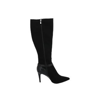 Divine Factory TDF2107 Women's Boots Black Lace-Up Boots Winter
