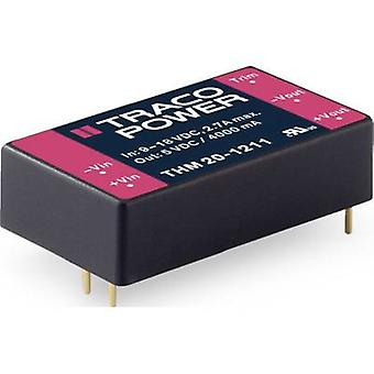 TracoPower THM 20-1212 Convertidor CC/CC (impresión) 1670 mA 20 W No. de salidas: 1 x