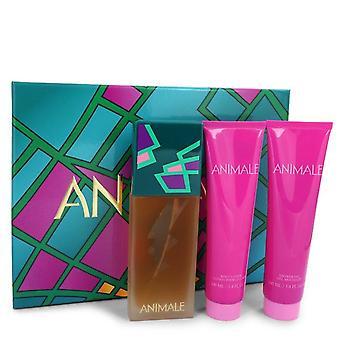 Animale Gift Set By Animale 3.4 oz Eau De Parfum Spray + 3.4 oz Shower Gel + 3.4 oz Body Lotion
