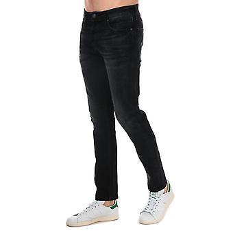 Men's Jack Jones Glenn Original Slim Fit Jeans in Black