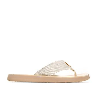 Women's Rocket Dog Adios Flip Flops in Cream