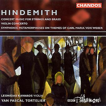 P. Hindemith - Hindemith: Symphonic Metamorphosis of Themes by Carl Maria Von; Concerto for Violin [CD] USA import