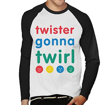 Twister naar Twirl Men's Baseball Long Sleeved T-shirt