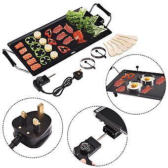 Electric Teppanyaki Table Top Grill Griddle BBQ Hot Plate Barbecue 48 x 27 CM 2000W