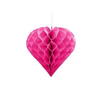 20cm mörkrosa bikake hjärta part dekoration
