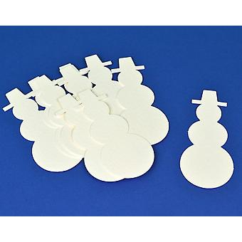 15 White Christmas Snowman Card Shapes for Crafts