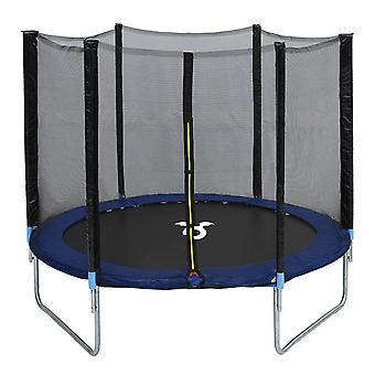 Charles Bentley Children's Monster 8ft Trampoline with Safety Net Enclosure for Kids