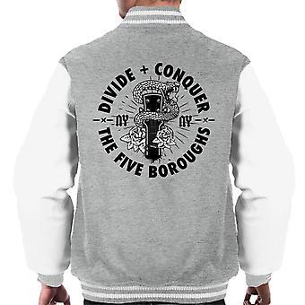Opdel & Conquer ny guitar Snake men ' s varsity jakke