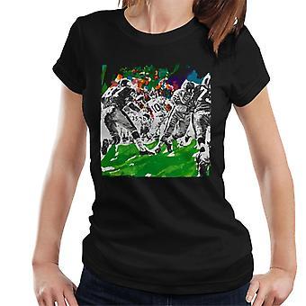 Lørdag kveld Post Amerikansk Fotball Sketch Paul Calle Kvinner's T-skjorte