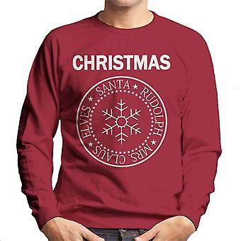Weihnachten Ramones Logo Mix Herren Sweatshirt