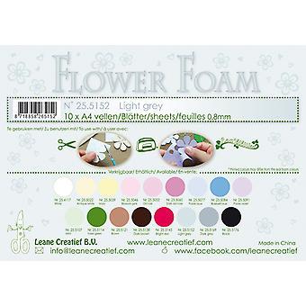 Leane Creatief Flower Foam Sheets A4 Light Grey
