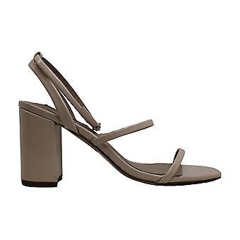 أكوا المرأة & apos؛ق الأحذية Maika الجلود فتح مضخات حزام الكاحل كلاسيك