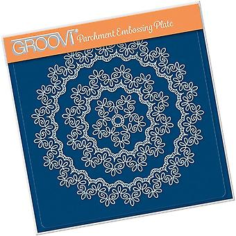 Groovi Nested Lace Fancy Swirls Frames A5 Square Plate