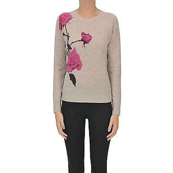 Dries Van Noten Ezgl093179 Dames's Roze Wollen Trui