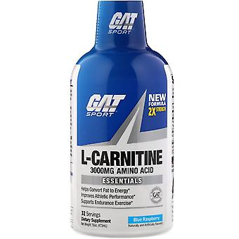 GAT, L-Carnitine, Aminozuur, Blauwe Framboos, 3.000 mg, 16 oz (473 ml)