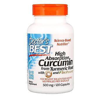 Doctor's Best, High Absorption Curcumin, 500 mg, 120 Kapseln