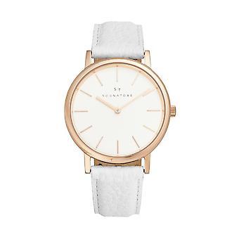 Sognatore Pure White Rose Gold Women's Watch/Men's Watch