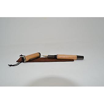 Hout Fueller Fuellspring pen kersen hout Vulpen Handmade gift cadeau cadeau idee unieke schroefdop