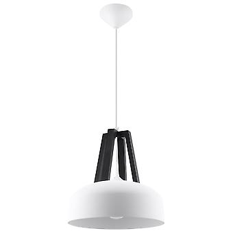 Sollux CASCO - 1 Light Dome Deckenanhänger weiß, schwarz, E27