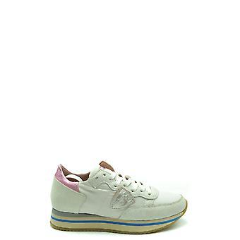 Philippe Modelo Ezbc019058 Zapatillas de cuero blanco para mujer y apos;s