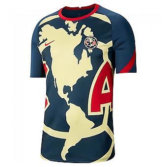 2020-2021 نادي أمريكا قبل المباراة قميص التدريب (البحرية)