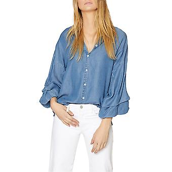 Helligdom | Chambray Tucked-Sleeve skjorte